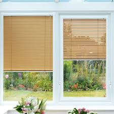 Wood Grain Blinds Honey Oak Perfect Fit Venetian Blind 25mm Slat