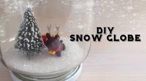 diy snow globe no water youtube