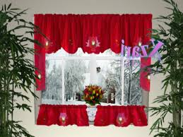 Kitchen Curtains Sets Christmas Kitchen Curtains Kenangorgun Com