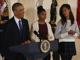 national thanksgiving turkey sasha and malia obama accused of having u0027no class u0027 in short skirts
