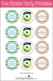 monsters university party free printable photo booth props