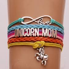 love braided bracelet images Drop shipping infinity love unicorn mom bracelets unicorn charm jpg
