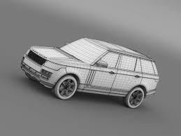 range rover sketch range rover svautobiography l405 2016 3d model in suv 3dexport