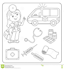 doctor tools coloring page eson me