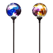 Outdoor Solar Lights On Sale by Solar Light Garden Stake Flower Globes Garden Art Glass Globe