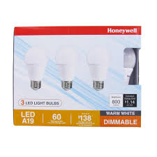 honeywell fe0101 01 a19 led light bulb 3 pack honeywell store