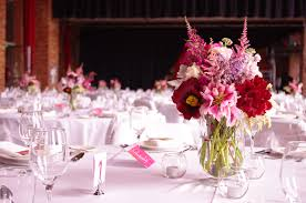 Red Wedding Decorations Pink And Red Wedding Flower Centerpieces Ipunya