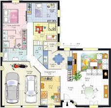 plan de maison avec 4 chambres plan maison 4 chambres plain pied plans maisons con plan de maison