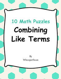 combining like terms puzzles by bios444 teaching resources tes