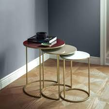 acrylic nesting tables target enamel round nesting tables set of 3 west elm round nesting tables