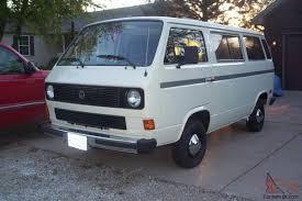 volkswagen vanagon blue vanagon 1985 restored nice