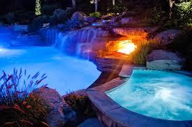 Colored Landscape Lighting Color Led Swimming Pool Lights Mahwah Bergen County Nj Tropical