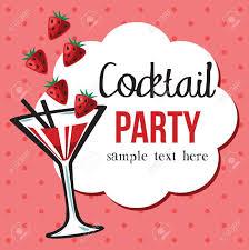 vintage cocktail party invitation royalty free cliparts vectors