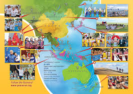 Asia Pacific Map by Asia Pacific Area The Sri Chinmoy Oneness Home Peace Run
