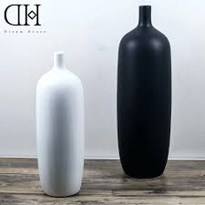 large floor vases for home laferida com luxury white flower porcelain vase black ceramic large floor vases home decoration pottery crafts flowertall decor