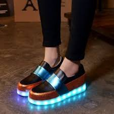 ladies light up shoes unisex women men led usb light up shoes luminous sneakers athletic