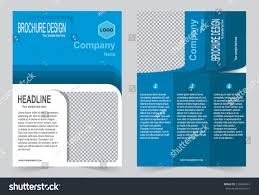 brochure template flyer design blue color stock vector 518469967