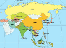 map if asia map of asian continent major tourist attractions maps