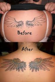 3d lower back gallery wing tattoos for design idea for