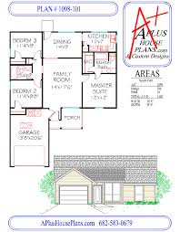 floor plan 1098 101 one story house plan 1098 sqft 3 bedroom 2