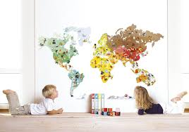 amazon com janod magneti stick wall decor world map toys games