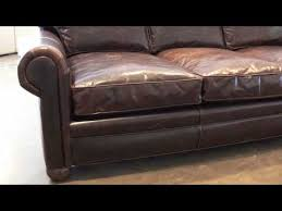 Chestnut Leather Sofa Langston Leather Sofa From Leathergroups Com Youtube