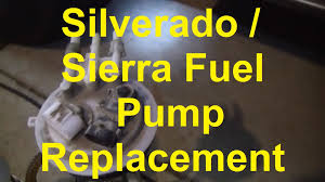 how to replace the fuel pump in a chevy silverado or gmc sierra