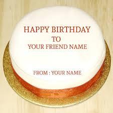 write friend name on birthday cake online