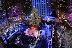lighting of tree at rockefeller center 2017 christmas in new york celebrate christmas in the big apple