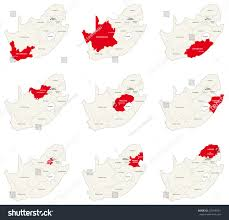 Blank Map Of South African Provinces by Provinces South Africa Stock Vector 225640951 Shutterstock