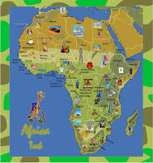 Burundi Africa Map by Africa Trek Map Game