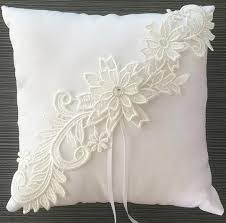 wedding pillow rings 2018 20cm 20cm white lace satin ring pillows wedding favors