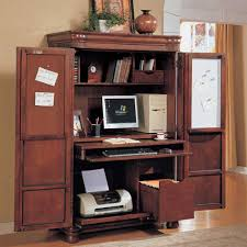 furniture cool wooden computer armoire plus desk and shelves for