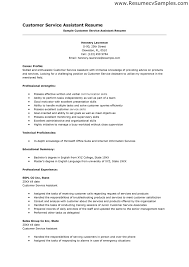 resume sample for customer service resume template and