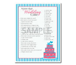 items similar to blue and pink name that wedding cake game for