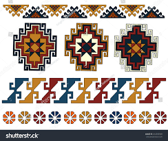 set armenian ornaments stock vector 412595599