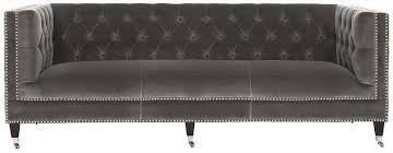 Grey Velvet Sofa by Gray Tufted Velvet Sofa