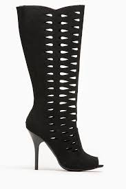 s qupid boots qupid black cut out peep toe stiletto boot cicihot boots catalog