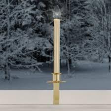cordless led window bracket candle at brookstone buy now