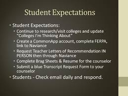 Guidance Counselor Brag Sheet The Application Process Naviance Edocs Ppt