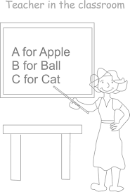teacher u0027s day coloring worksheets for kids 3