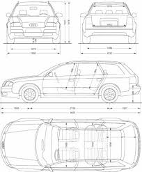 dimension audi a6 the blueprints com blueprints cars audi audi a6 avant