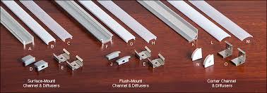 led channels and diffusers for tape lighting lee valley tools