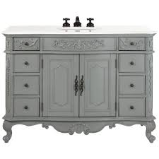Home Depot White Bathroom Vanity home decorators collection winslow 48 in w bath vanity in antique
