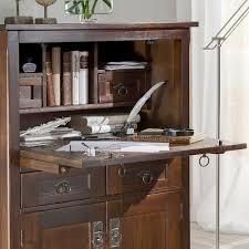 Schreibtisch Massiv Sekretär Sambia Im Kolonialstil Massiv Pharao24 De