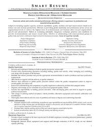 operations manager sample resume samples how smart resume services writers work manufacturing operations manager resume sample