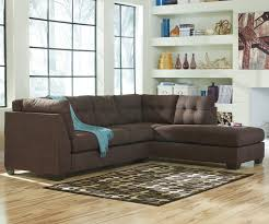 benchcraft maier walnut 2 piece sectional w sleeper sofa