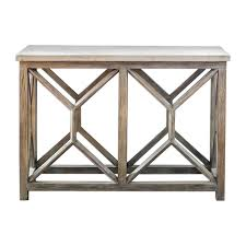 light wood console table open light weathered wood console table stone top x natural my
