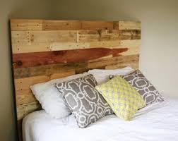 Distressed Wood Headboard by Pallet Headboard Etsy
