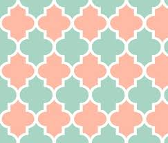 quatrefoil wrapping paper quatrefoil in mint and coral wallpaper willowlanetextiles